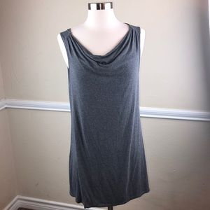 Eileen Fisher gray sleeveless tunic or long tank